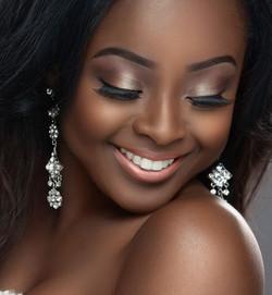 Bridal makeup for black skin