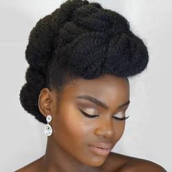Afro bridal hair
