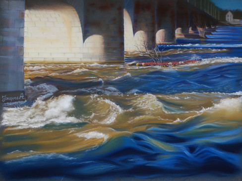 Sous le pont de pierre coule la Loire