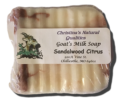 CNQ Goat's Milk Soap- Sandalwood Citrus