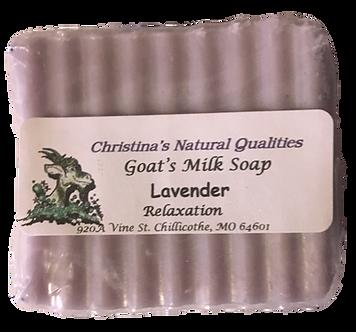 CNQ Goat's Milk Soap- Lavender