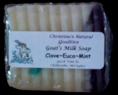 CNQ Goat's Milk Soap- Clove Euca Mint
