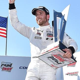 Ed Jones winning Indy Lights