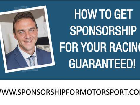 How To Get Sponsorship For Your Racing. Guaranteed! It's Launching This Year.