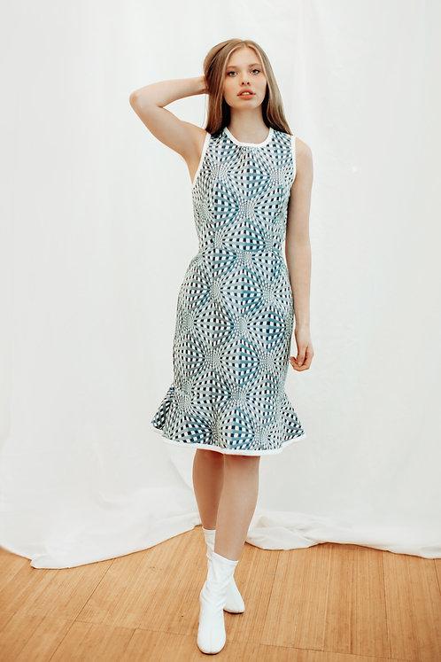 THE 3D JACQUARD DRESS