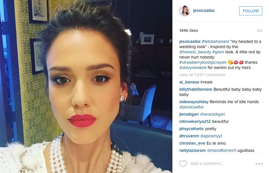 celebrity on social media jessica alba