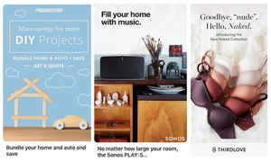 Pinterest ad examples