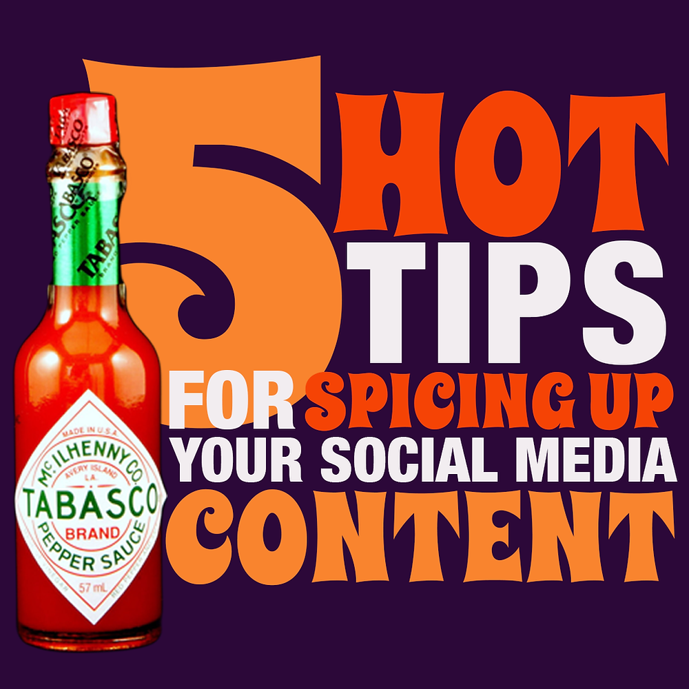 spice up your social media content marketing