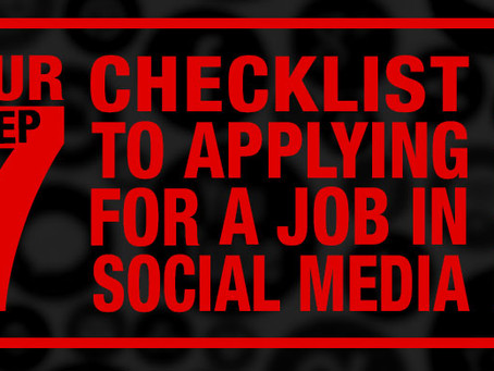Your 7 Step Checklist to Applying For a Job in Social Media