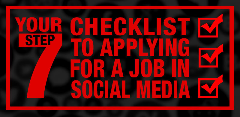 checklist applying for social media job