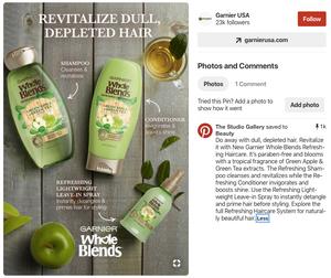 Pinterest ad example