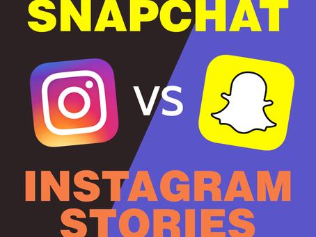 Snapchat vs. Instagram Stories 2017