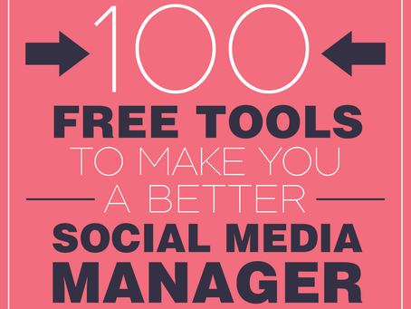 100 Free Tools to Make You a Better Social Media Marketer