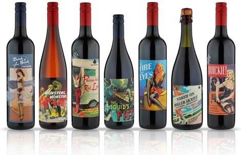 wines with cool labels some young punks