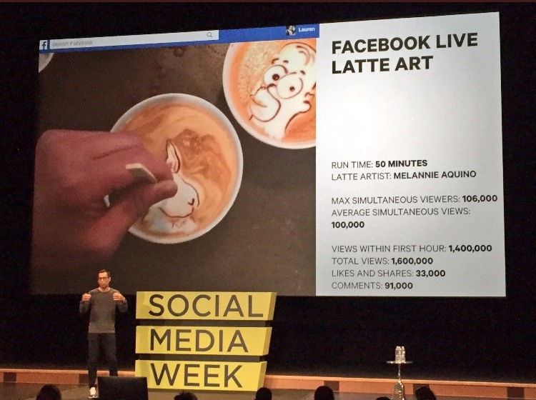 Tastemade Facebok Live Latte Art