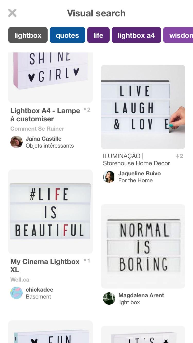 Pinterest My Cinema Lightbox