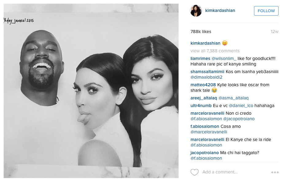 celebrity on social media kim kardashian