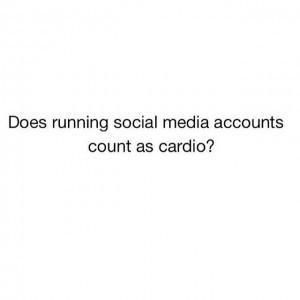 manage social media cardio