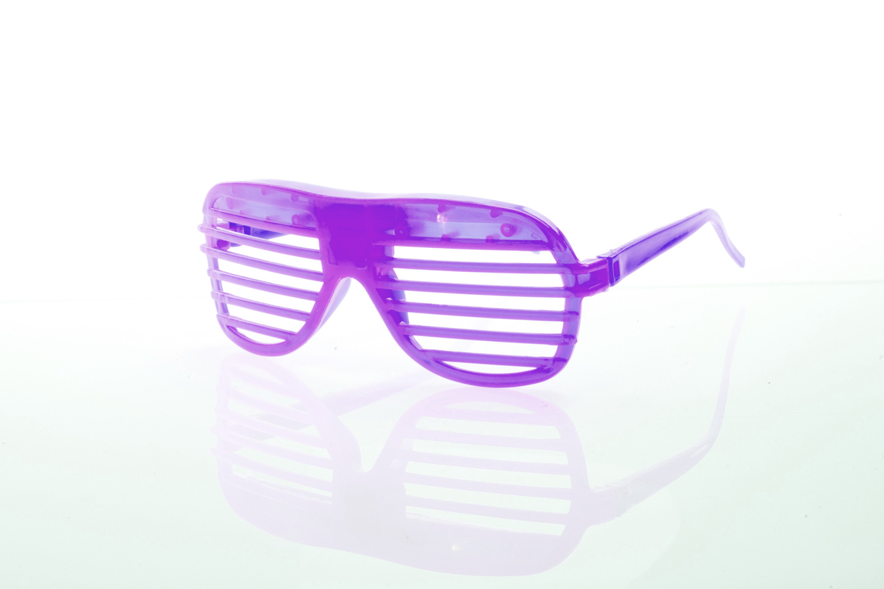 Purple Party Glasses