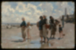 """""""En route pour la peche (Setting Out to Fish) by John Singer Sargent, 1878 - Corcoran Gallery of Art - DSC01140"""" by Daderot - Daderot. Licensed under Creative Commons Zero, Public Domain Dedication via Wikimedia Commons - http://commons.wikimedia.org/wiki/File:En_route_pour_la_peche_(Setting_Out_to_Fish)_by_John_Singer_Sargent,_1878_-_Corcoran_Gallery_of_Art_-_DSC01140.JPG#mediaviewer/File:En_route_pour_la_peche_(Setting_Out_to_Fish)_by_John_Singer_Sargent,_1878_-_Corcoran_Gallery_of_Art_-_DSC01140.JPG"""