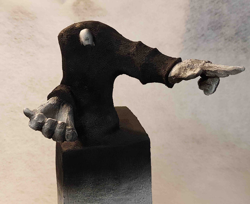 """"""" The Pointing Man """". Peter Marron"""