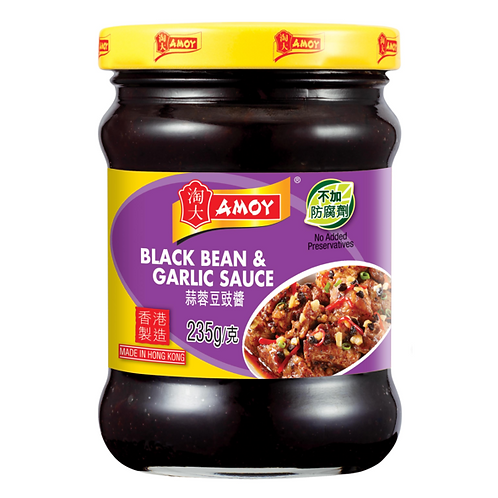 Amoy Black Bean Garlic Sauce 235g
