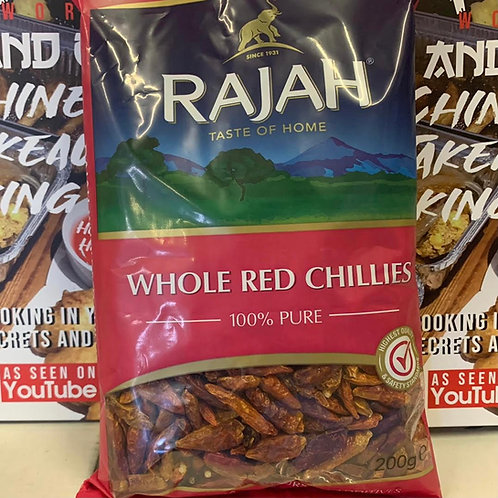 Rajah whole red chillies 200g