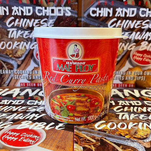 Mae Ploy Red Curry Paste 1kg (large pot)