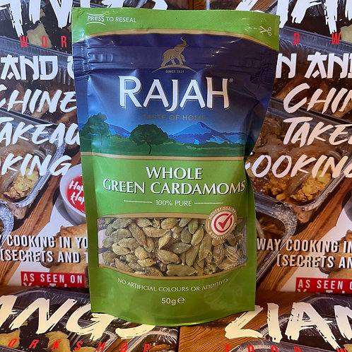 Rajah Whole Green Cardamoms 50g