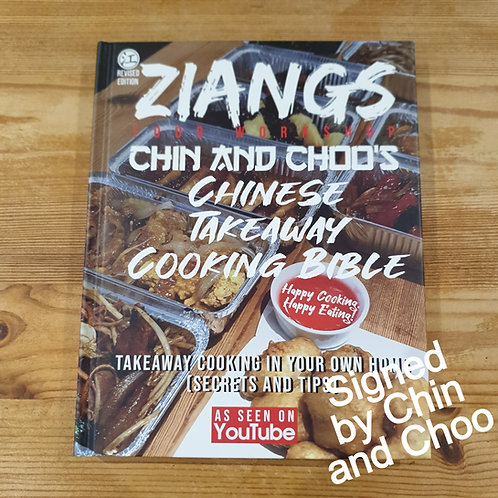 Signed - 3rd print - Chin and Choo's Chinese  Takeaway Cooking Bible bc