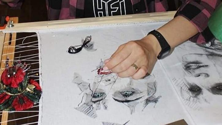 """Мастер-класс """"Акварельная техника кутюрного декора"""" (итальянский метод вышивки)."""