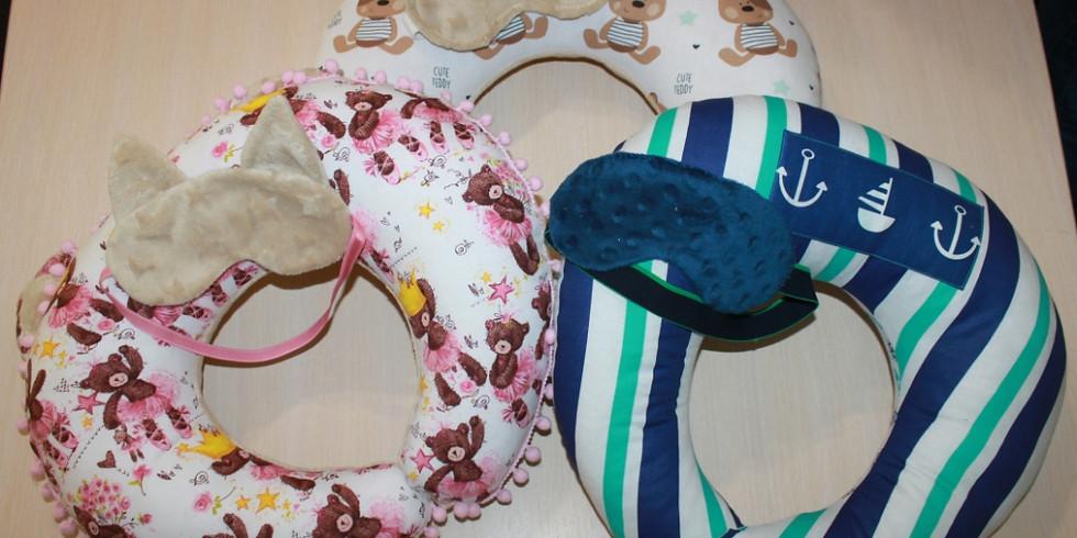 Мастер – класс «Набор ПУТЕШЕСТВЕННИКА» - по пошиву дорожной подушки и маски для сна.