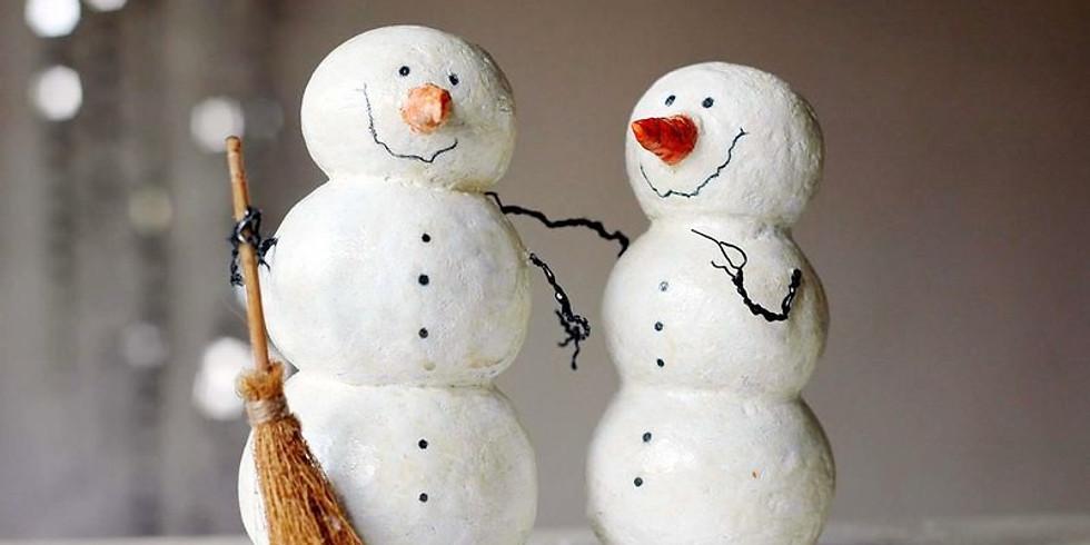 Мастер-класс «Валяный Снеговик» (для детей и родителей).