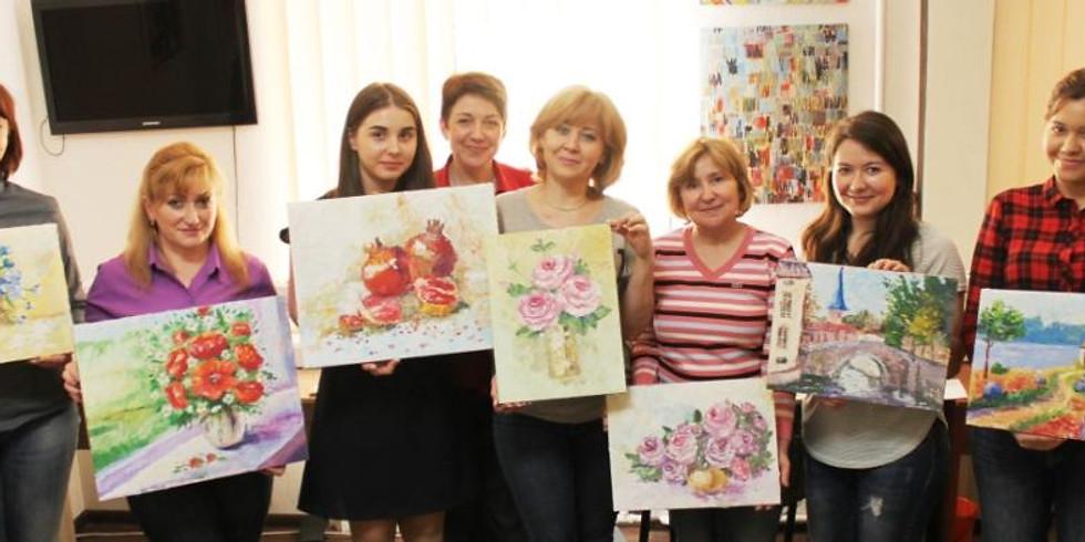 """""""Вдохновение"""" мастер-класс по живописи для новичков!"""