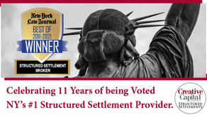 Voted New York's #1 Structured Settlement Provider - 11 Straight Years.