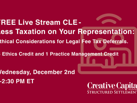 FREE Live Stream CLE: Less Taxation on Your Representation: Ethical Considerations for Legal Fee Tax
