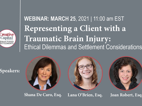 FREE Live Stream CLE: Representing a Client with a Traumatic Brain Injury.