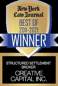NYLJ2021CREATIVE_Structured SettlementBroker_MUlTIYRWINNER.png