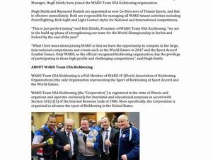 Excelentes noticias para nuestros compañeros de WAKO USA