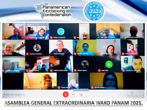 WAKO México presente en la Asamblea General Extraordinaria de WAKO PANAM 2021
