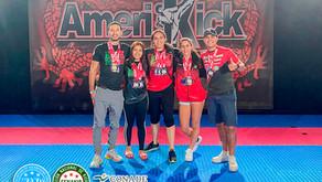 Gran participación de la Selección Mexicana de Kickboxing en el CAMPEONATO INTERNACIONAL AMERIKICK!!