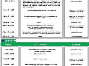Programa De Actividades - 1° Concentración de la Pre-Selección Nacional de Kickboxing en el CNAR