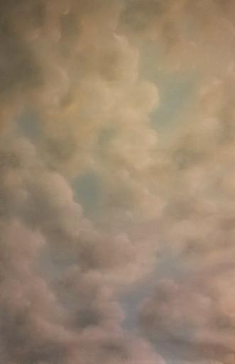 Faux ciel peint sur plafond