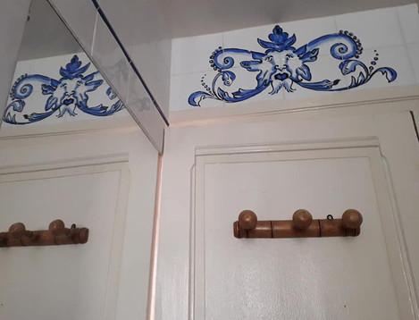 "Décor peint ""Azulejo"""