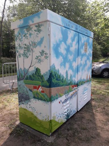 Décors peints sur mobilier urbain