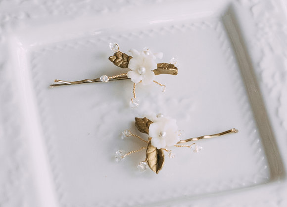 Hairpins Flor Ivory