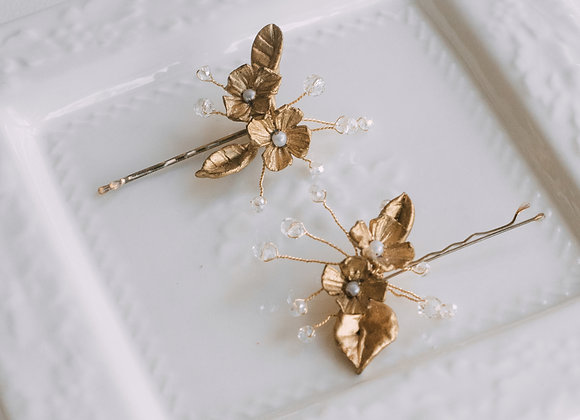 Hairpins Flor Oro