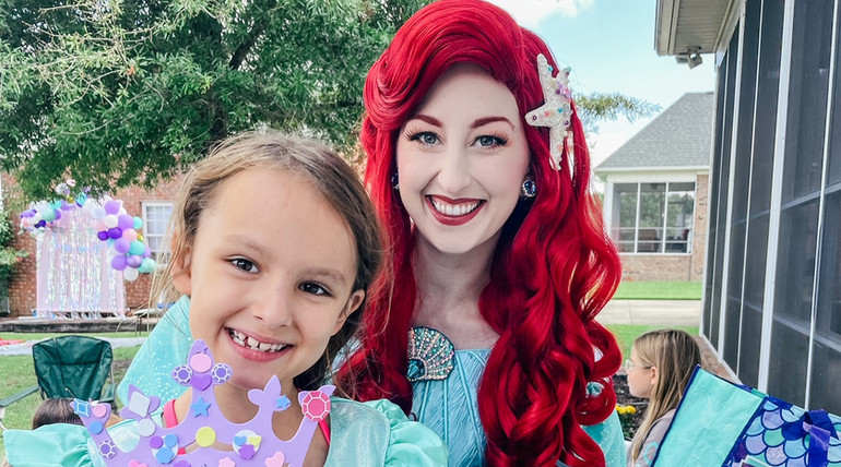 Little Mermaid Princess Party in Wilmington, North Carolina with Fairytales and Dreams by