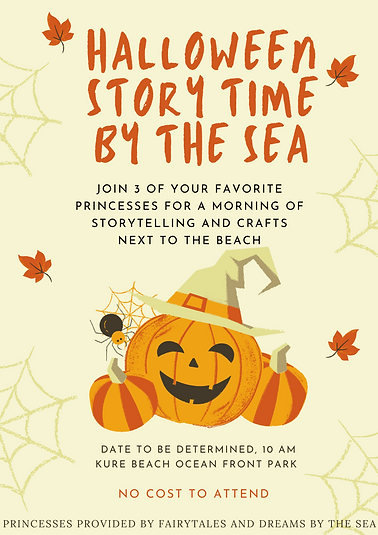 Halloween Story Time by the Sea Poster