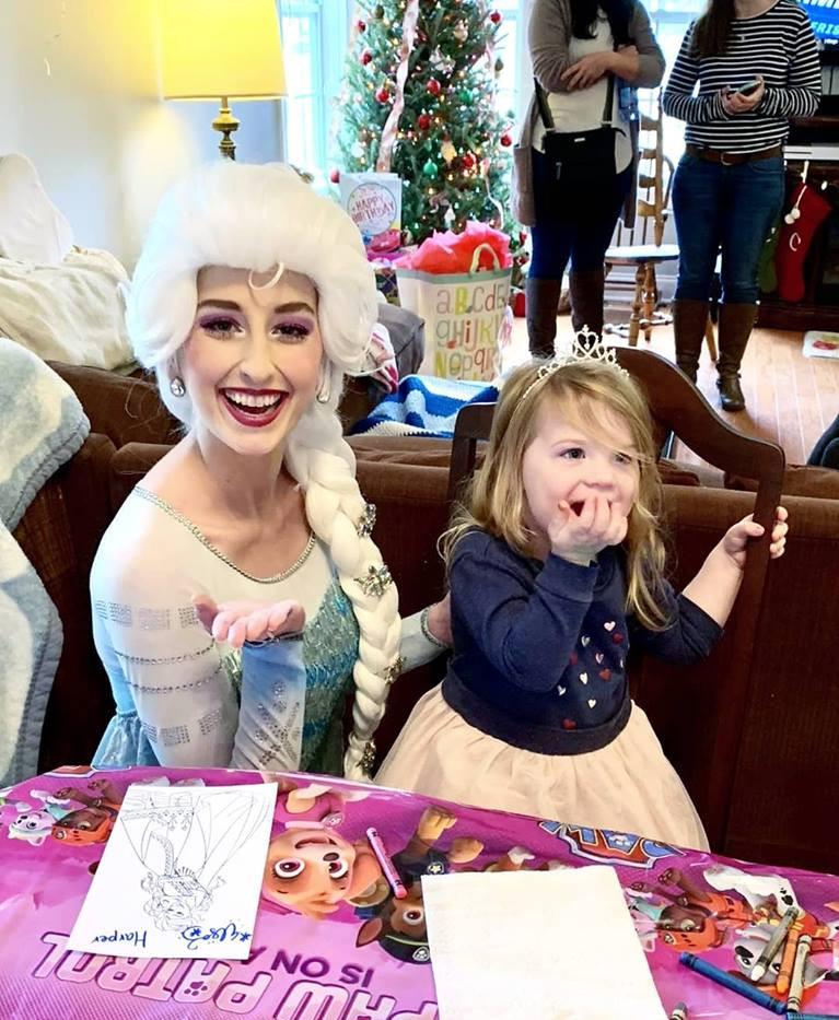 Snow Queen Birthday Party Wilmington, NC